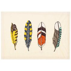 feathers embroidered stationery