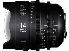 Sigma announces 14mm T2 and 135mm T2 Cine Prime lenses