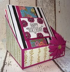 Happy Friday! Welcome back to another 3D Project Friday, today i have designed a simple card holder, perfect for sitting on your desk and holding all the beautiful cards you have created. I just love how bring and colourful this project turned out to be. By altering the width of the box you can easily include for larger sized cards.