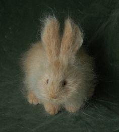 Natasha Fadeeva felted animals - Fluffy rabbit