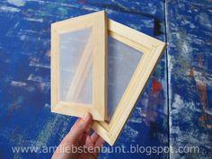 Mini Siebdruckrahmen selber machen