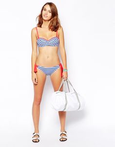 Piha Papeete Stripe Under Wired Balconette A/B C/D Bikini Top