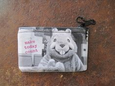 The other side of the Groundhog Day coin purse. #groundhogday #woodstockIL