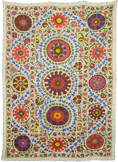 Suzani Folk Art Textile For Interior Design & by SilkRoadCaravans, $400.00