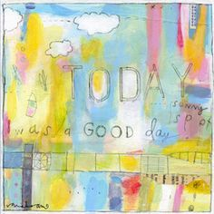 Today was a Good Day by Sarah Ahearn Bellemare - contemporary - artwork - Etsy Mixed Media Collage, Collage Art, Collages, Poster Size Prints, Art Prints, New Poster, Contemporary Artwork, Art Journal Inspiration, Painting Inspiration
