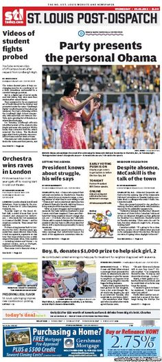 St. Louis Post-Dispatch September 5, 2012 #STL #newspapers