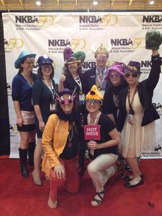On the NKBA red carpet.