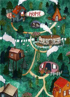 HOME illustration by Signe Gabriel!