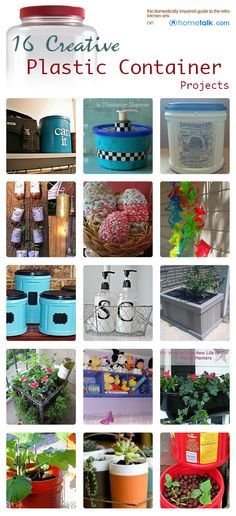 16 Creative Plastic Container Projects | curated by 'Kelli's Retro Kitchen Arts' blog!