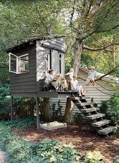 Outdoor playhouse ideas: needs to be useful to the adults too!
