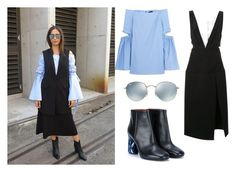 """Get the look: Eleanor Pendleton at MBFWA"" by yahoo7 ❤ liked on Polyvore featuring E L L E R Y, Ray-Ban, Acne Studios, Christopher Esber, Ellery, MBFWA and eleanorpendleton"