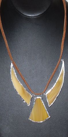 Stained Glass Necklace by MommasCorner on Etsy, $16.00