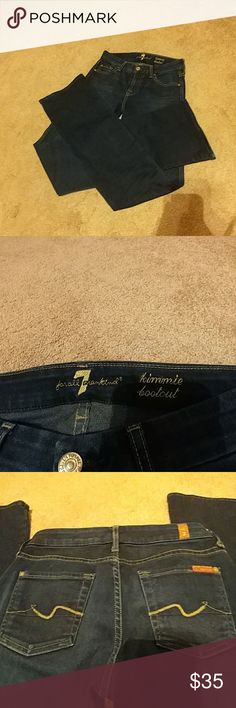 """Seven for All Mankind NWOT Super soft """"Jimmie bootcut"""" jeans.  Waist 25"""", inseam 32-1/2.  90% cotton, 6% polyester, 4% spandex.  Price firm unless bundled. 7 For All Mankind Jeans Boot Cut"""