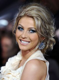 LOVE her hair color and her :)  Julianne Hough...blonde messy, updo