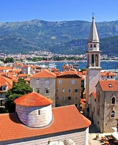 Old town of Budva, Montenegro. Adriatic sea.