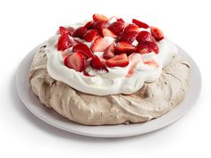 Chocolate Pavlova with Strawberries and Cream Recipe : Food Network Kitchen : Food Network - FoodNetwork.com