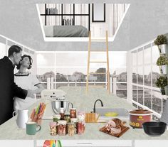 Architectural Drawing Design Gallery of Explore the potential of the human figure in architectural representation - 4 - Image 4 of 24 from gallery of Explore the Potential of the Human Figure in Architectural Representation. Architecture Visualization, Architecture Student, Architecture Drawings, Architecture Graphics, Architecture Portfolio, House Architecture, Photoshop Rendering, Perspective Art, Interior Rendering