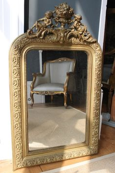 Antiques Atlas - Small Crested Gilt French Mirror