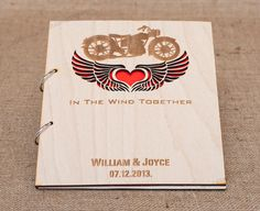 Wedding Guest Book for Motorcycle Lovers by MelindaWeddingDesign, $55.00
