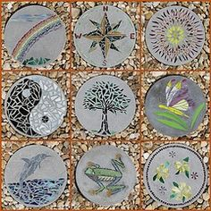 diy stepping stones - Bing Images..i want to make theses