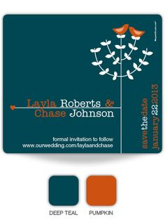 deep teal and orange ... on the possible list of colors ...