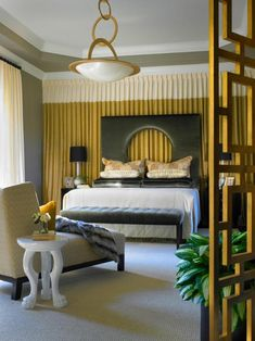 Cool Bed Canopy Ideas For Modern Bedroom Decor. From Streamline Moderne To Modern WSJ. Home Design Ideas Bedroom Colour Palette, Bedroom Wall Colors, Bedroom Color Schemes, Gray Bedroom, Trendy Bedroom, Home Decor Bedroom, Bedroom Ideas, Bedroom Yellow, Bedroom Retreat