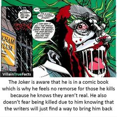 Joker and fourth wall