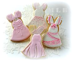 My little bakery :): Dress cookies for a Pink Party...