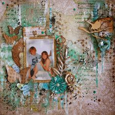 Off the Rails Scrapbooking challenge - Stencils and Masks - DT member Fiona