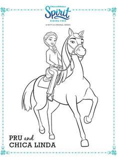 spirit riding free pru and chica linda coloring page   ausmalbilder, ausmalen, malvorlagen