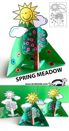 SPRING MEADOW paper craft