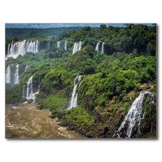 Postcard Iguaçu National Park Overall, Brazil Carte Postale