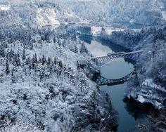 The Tadami River, Fukushima, Japan