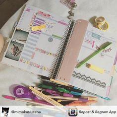 Organizar também pode ser divertido e relaxante! #meudailyplanner #plannerdecoration #plannersupplies #plannerlove