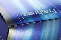 Multi-hued foil stamping with varying shades of blue, purple and silver. www.kurzusa.com