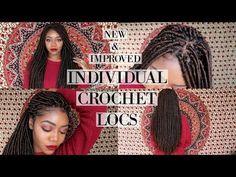 Jazz Nicole Method Individual Crochet Locs | NEW  & IMPROVED | Partial Cornrows | Zury Mali Locs - YouTube