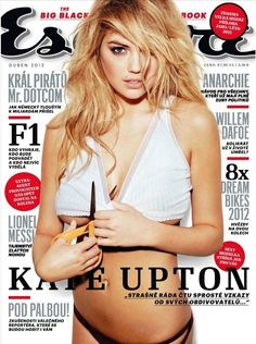 American model Kate Upton for Esquire Czech Cover, April 2012