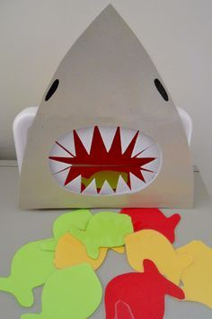 Feed the Shark Preschool Activity - printable template