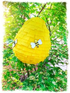 Buzzy Bee  Beehive Pinata by PleasantlyPinatas on Etsy, $19.99  Perfect for Hunger Games, Winnie the Pooh, or Picnic party.