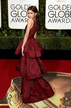 Zendaya in Marchesa. Golden Globes 2016