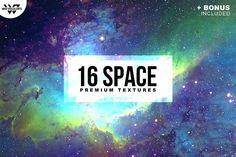 16 SPACE GALAXY Textures + BONUS by tes on @creativemarket