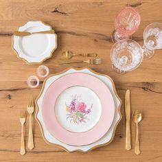 #casadeperrin Dinnerware by Casa de Perrin | Anna Weatherley Chargers/Dinnerware + The Botanicals Collection Vintage China + Chateau Flatware + Vintage Pink Goblets + Czech Crystal Stemware + Pink Salt Cellars #cdpdesignpresentation