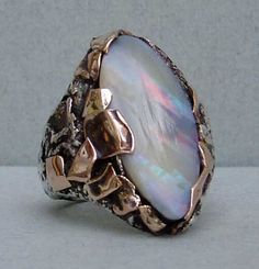 ring-silver,rose gold,opal