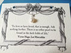 Pearls and Les Mis...what more could you want...?