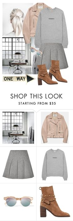 """""""Untitled #1897"""" by ivonce ❤ liked on Polyvore featuring Dollhouse, Acne Studios, T By Alexander Wang, Le Specs and See by Chloé"""