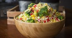 Quinoa Salad. Try this healthy, delicious, colorful salad and be amazed by quinoa's crunchiness when cooked properly!!