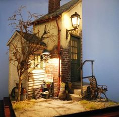 Miniature Diorama ♡ ♡ By Minibricks Vitrine Miniature, Miniature Rooms, Miniature Houses, Tiny World, Fairy Houses, Doll Houses, Miniture Things, Stop Motion, Little Houses
