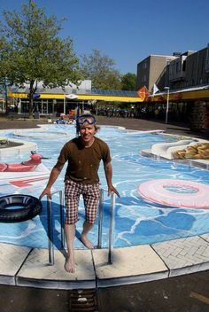 'Swimming Pool' 3D Street Art                                                                                    |AmazingStreetArt|
