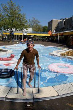 'Swimming Pool' 3D Street Art                                                                                    |AmazingStreetArt|