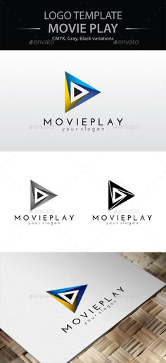 Movie Play Logo by Designer_bg This logo template is associated with media, audio and video play. The logo is fully editable and well organized. Used font: Jose Logo Design Template, Logo Templates, Film Logo, Triangle Logo, Music Logo, Movies Playing, Geometric Logo, Symbol Logo, Logo Color